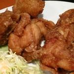 市川食堂 - 鮭の塩焼き・とり唐セット
