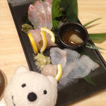 炉暖 - 鮮魚3品盛り Assorted 3 Fresh Sashimi at Rodan, Awaza!♪☆(*^o^*)