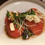 ケンゾーカフェ - トマトクリームチーズサラダ(600円)