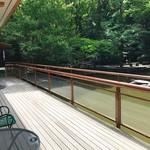 お休み処 清め茶屋 - 池に面したテラス席