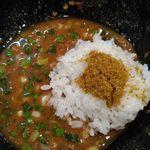 拉麺 空海 - 追い飯の上にはカレー粉