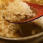 麺屋 音 - 特製煮干しそば しょう油で〆の雑炊