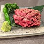 焼肉ホルモン せがれ - 花咲厚切りタンステーキ