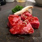 焼肉ホルモン せがれ - 和牛厚切り赤身