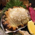 季節料理 薗 - 特大サイズの活鮑の造り