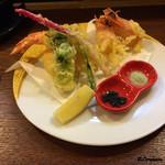 季節料理 薗 - 活車海老の天ぷら