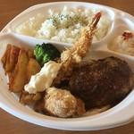 洋食バル マカロニ食堂 - 豚ハンバーグ弁当
