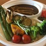洋食バル マカロニ食堂 - 野菜たっぷりカレー弁当