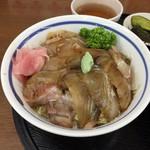 食堂どん - ヒラメのヅケ丼アップ