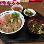 食堂どん - ヒラメのヅケ丼