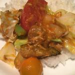 野菜を食べるカレーcamp - 確かに野菜ゴロゴロです。