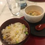 蔵元佳肴 いづみ橋 - 炊き込みご飯と冷や汁