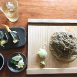 蕎麦切り大城 - 玄挽き蕎麦と天むすのセット  驚きのランチ950円