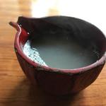 蕎麦切り大城 - 蕎麦湯は、トロミのあるタイプ