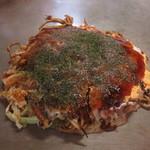 福永お好み焼店 - 料理写真:肉玉そば+いか天