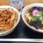 おそばやさん 和 - 料理写真:ミニかき揚げとミニうどん