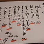 ふく鶴 - 日替りメニュー