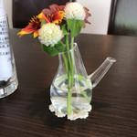 71054863 - 各テーブルには、お花