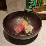 日本酒スローフード方舟 - お造り盛合せ三種