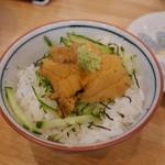 旬菜 すがや - ミニウニ丼540円。
