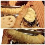 博多天ぷら たかお - ◆烏賊、海老、茄子など。
