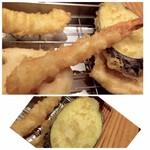 博多天ぷら たかお - *海老は程よい大きさ。 *茄子。