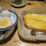 コメダ珈琲店 - モーニングのサービストースト(二人分です!)