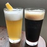 南信州ビール直営レストラン 味わい工房 - ヴァイツェンは白と黒があります。