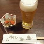 さらしな総本店 - 生アサヒスーパードライ(570円)