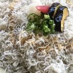 安芸しらす食堂 - ポン酢をかける