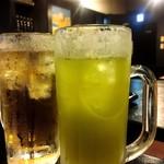 麺ジャラスK - ウーロンハイと緑茶ハイ♪
