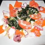 FGR DINER - 緑黄色野菜と魚介のサラダ(\620)