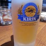 ハンバーグの時間 - 生ビール450円はキリン