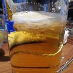 ハンバーグの時間 - 生ビール450円はキリンは泡が氷ってました