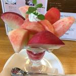 ピーチカフェなかにし - 料理写真:麗しの夏パフェ