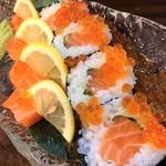 サーモンの巻き寿司 たっぷりいくらこぼし