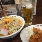 71081900 - タンカラ1000円 辛タンメンと唐揚3個のセット