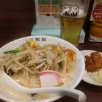 71081910 - レディースセット780円(麺少なめ唐揚げ1個)