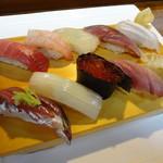 いしはら寿司 - おすすめにぎり 佐渡で取れた魚10カン
