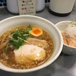 3104丁目 - ラーメン塩(800円)+鶏のづけ丼(ランチ100円)