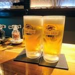 71085159 - ビールで乾杯です~\(^^)/