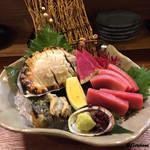 季節料理 薗 - 料理写真:活鮑と鮪 中トロ