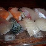 71087851 - 赤貝 関サバ カンパチ ヒラメ