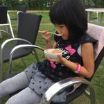屋上BBQビアガーデン キンビア 西武船橋店 - デザートはアイスクリーム(^∇^)