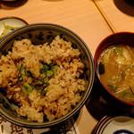 土佐清水ワールド - 魚飯、宗田節のお味噌汁