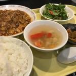 中国料理 鈴 - 四川麻婆豆腐セット1000円