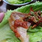 韓国家庭料理 漢陽 - サムギョプサル