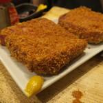 定食酒場食堂 - 厚切りハムカツ