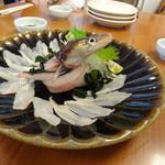 ひらまつ食堂 - 活穴子の刺身
