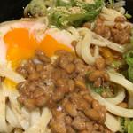 水道橋麺通団 - ぶっかけ、温泉卵、納豆